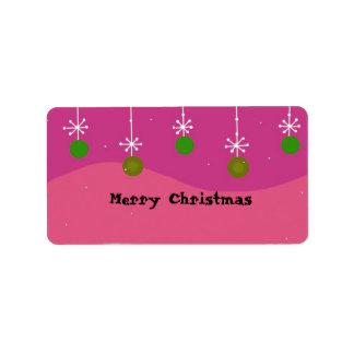 Christmas Decorations Label