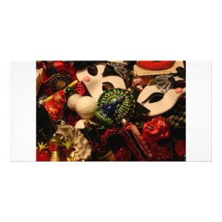 Christmas decorations photo greeting card