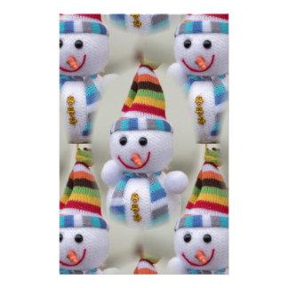 Christmas decorations snowmen stationery