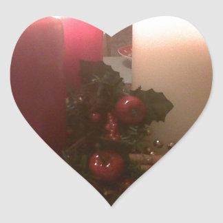 Christmas Decorations Heart Sticker