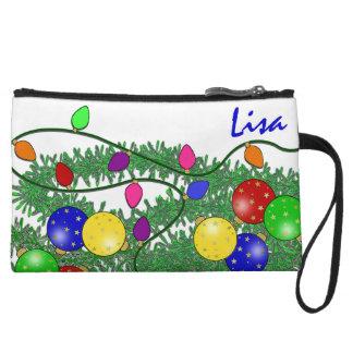 Christmas Decorations Wristlet Bag