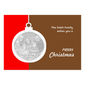 Christmas Decorative Ball Large Business Cards (Pack Of 100)