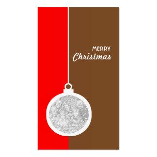 Christmas Decorative Ball Business Cards
