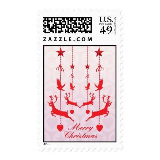 Christmas decs red stamp