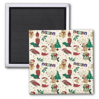 Christmas deer,bear,cat and Nutcracker Magnet
