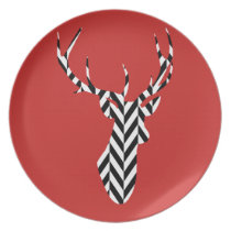 Christmas Deer Dinner Plate