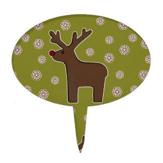 Christmas deer! green cake picks