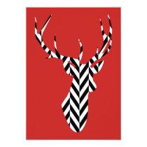 Christmas Deer Invitation