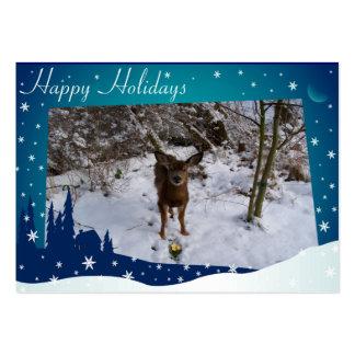 Christmas Deer Large Business Card