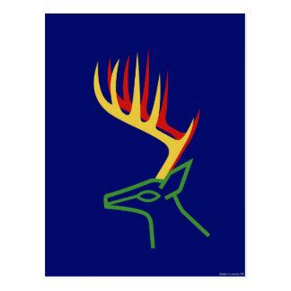 Christmas Deer Postcard
