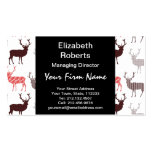 Christmas Deer / Reindeer Decorative Pattern Double-Sided Standard Business Cards (Pack Of 100)