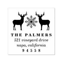 Christmas Deer Return Address Self-inking Stamp
