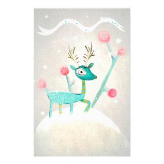 Christmas deer Stationery