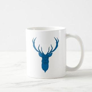Christmas deer with abstract geometric pattern coffee mug