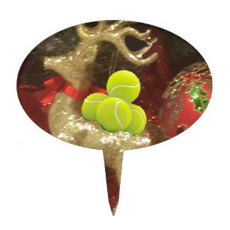Christmas deer with tennis balls cake topper