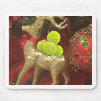 Christmas deer with tennis balls mouse pad