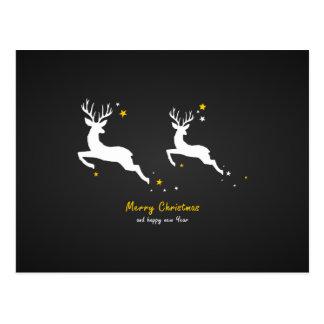 Christmas Deers Postcard