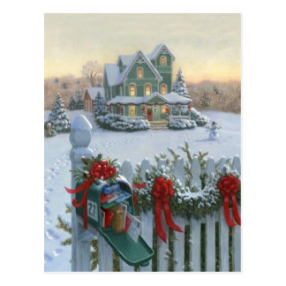Christmas Delivery Postcard