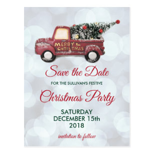 christmas save the date postcards zazzle