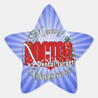 CHRISTMAS Dental Surgery Star Stickers