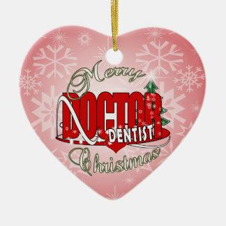 CHRISTMAS DENTIST CERAMIC ORNAMENT