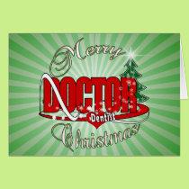 CHRISTMAS DENTIST DOCTOR CARD