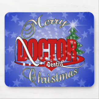 CHRISTMAS DENTIST DOCTOR MOUSE PAD