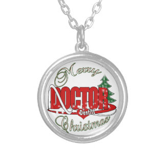 CHRISTMAS DENTIST DOCTOR SILVER PLATED NECKLACE