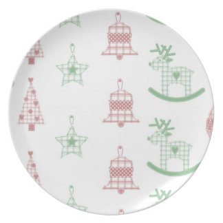 Christmas Design Cookie Plate