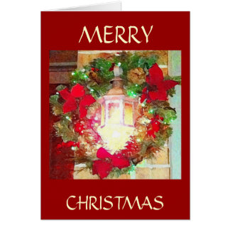 Christmas Design ~ Lamp Post With Wreath Card