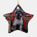Christmas - Dexter - Cairn Double-Sided Star Ceramic Christmas Ornament