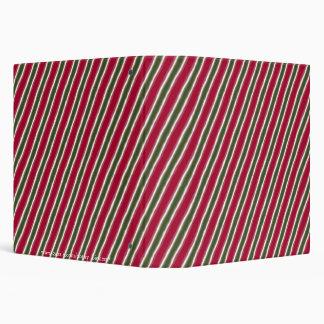 Christmas Diagonal Stripes Binders