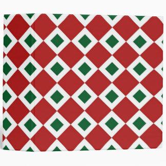 Christmas Diamond Pattern 3 Ring Binder