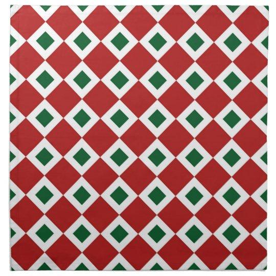 Christmas Diamond Pattern Napkin