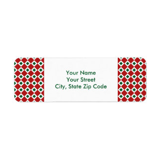 Christmas Diamond Pattern return address label