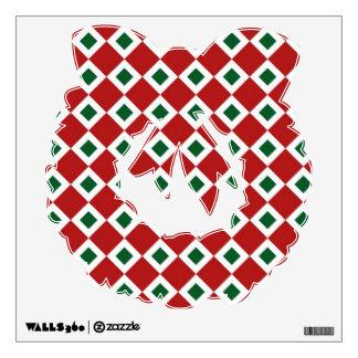Christmas Diamond Pattern Wall Sticker