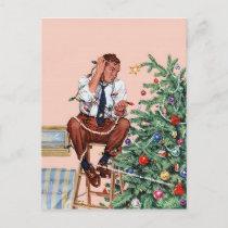 Christmas Dilemma Holiday Postcard