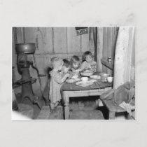 Christmas Dinner 1936 Holiday Postcard