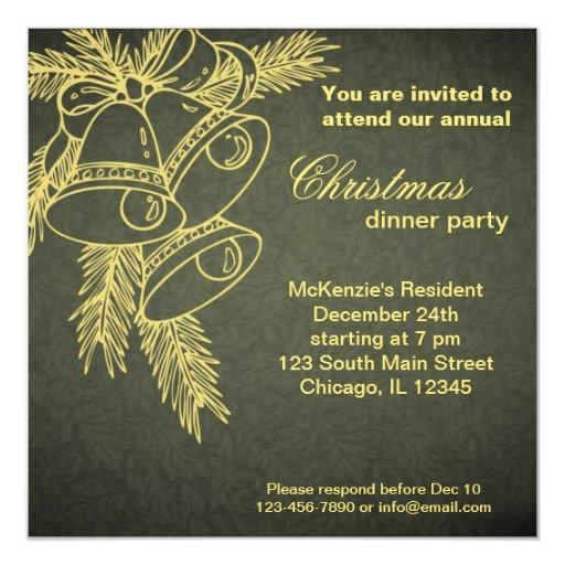 Christmas Dinner 5.25x5.25 Square Paper Invitation Card