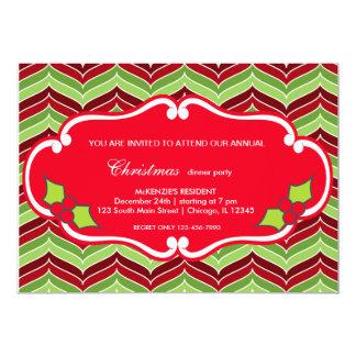Christmas dinner 5x7 paper invitation card