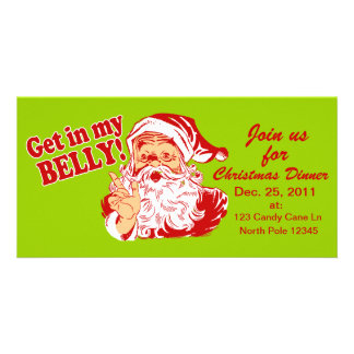 Christmas Dinner Invitations Personalized Photo Card