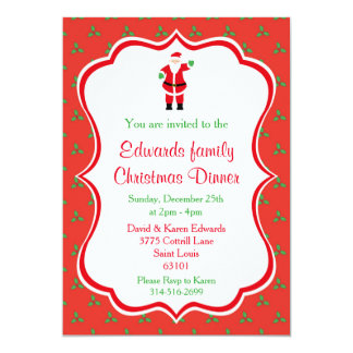 Annual Holiday Dinner Party Invitations & Announcements | Zazzle