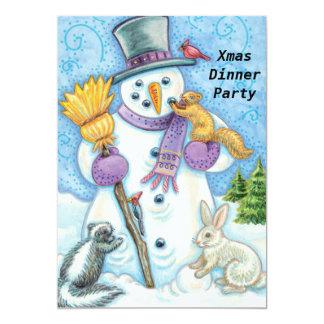 "Christmas Dinner Party 2 Invitation 5"" X 7"" Invitation Card"