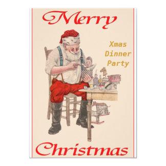 "Christmas Dinner Party 6 Invitation 5"" X 7"" Invitation Card"