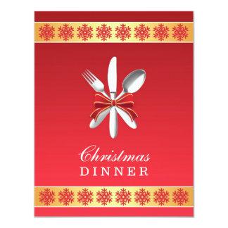 Christmas Dinner Party Flat Invitation