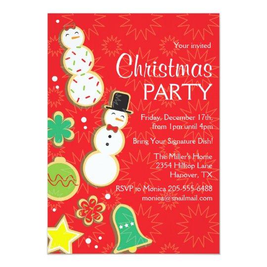 Christmas Dinner Party Invitation