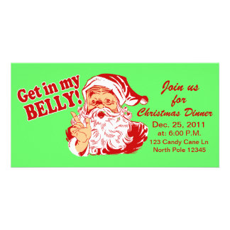 Christmas Dinner Party Invitations Photo Greeting Card
