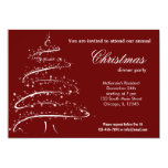 Christmas dinner personalized invite