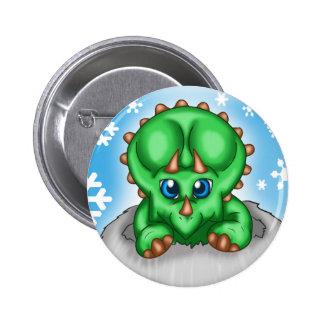 Christmas Dinosaur 2 Inch Round Button