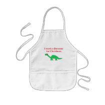Christmas Dinosaur apron
